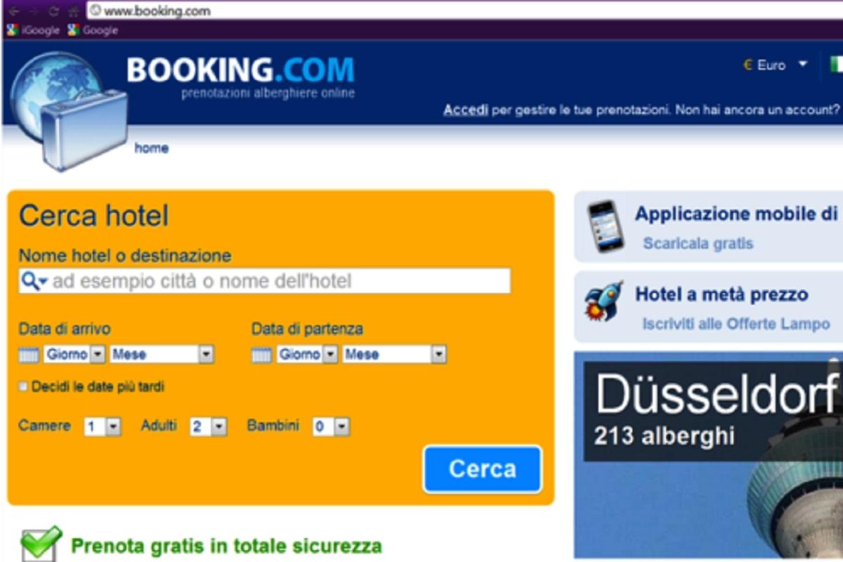 Prenotazione booking