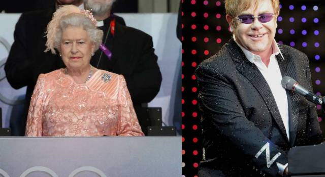 Elton John Regina Elisabetta