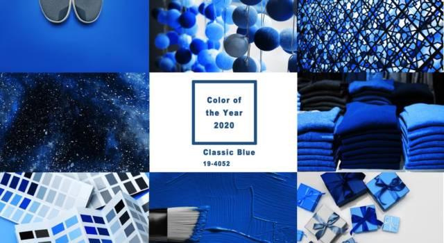 Blue is the new black! Il Classic Blue sarà il colore del 2020, lo dice il Pantone Color Instute.