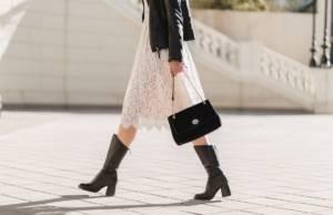Outfit stivali borsa