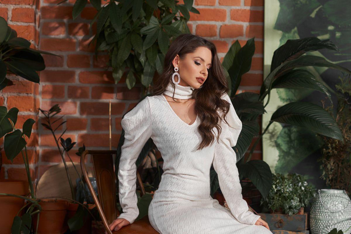 Donna vestito bianco