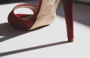sandali con plateau rossi con tacco a spillo