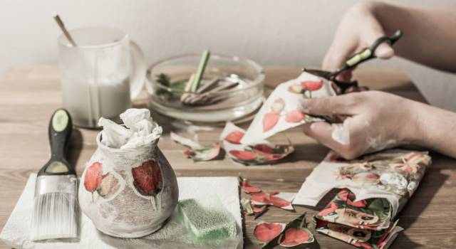Come fare decoupage barattoli di latta