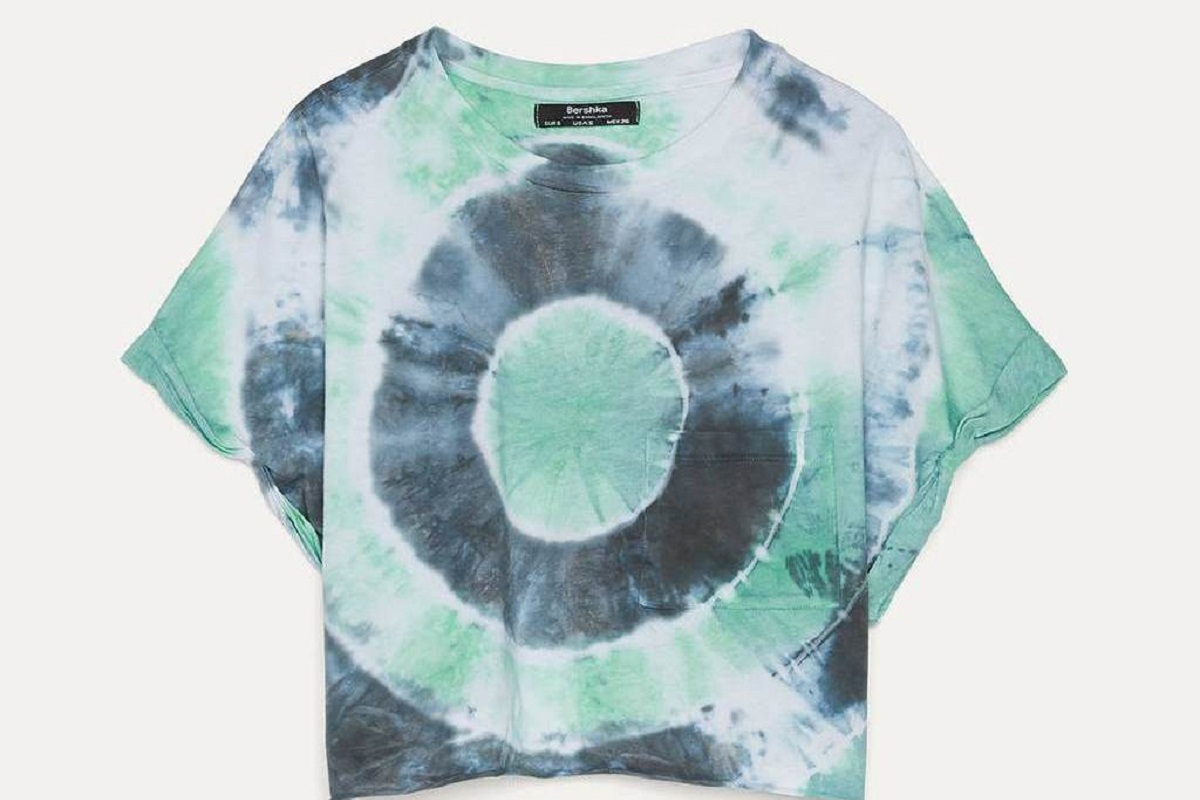 T-shirt cropped verde Bershka