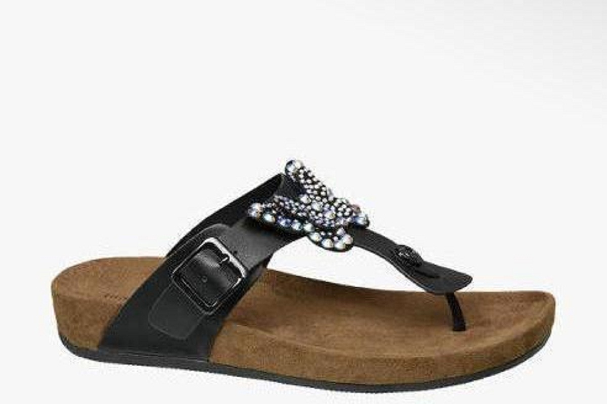 Sandali infradito cuoio gioiello