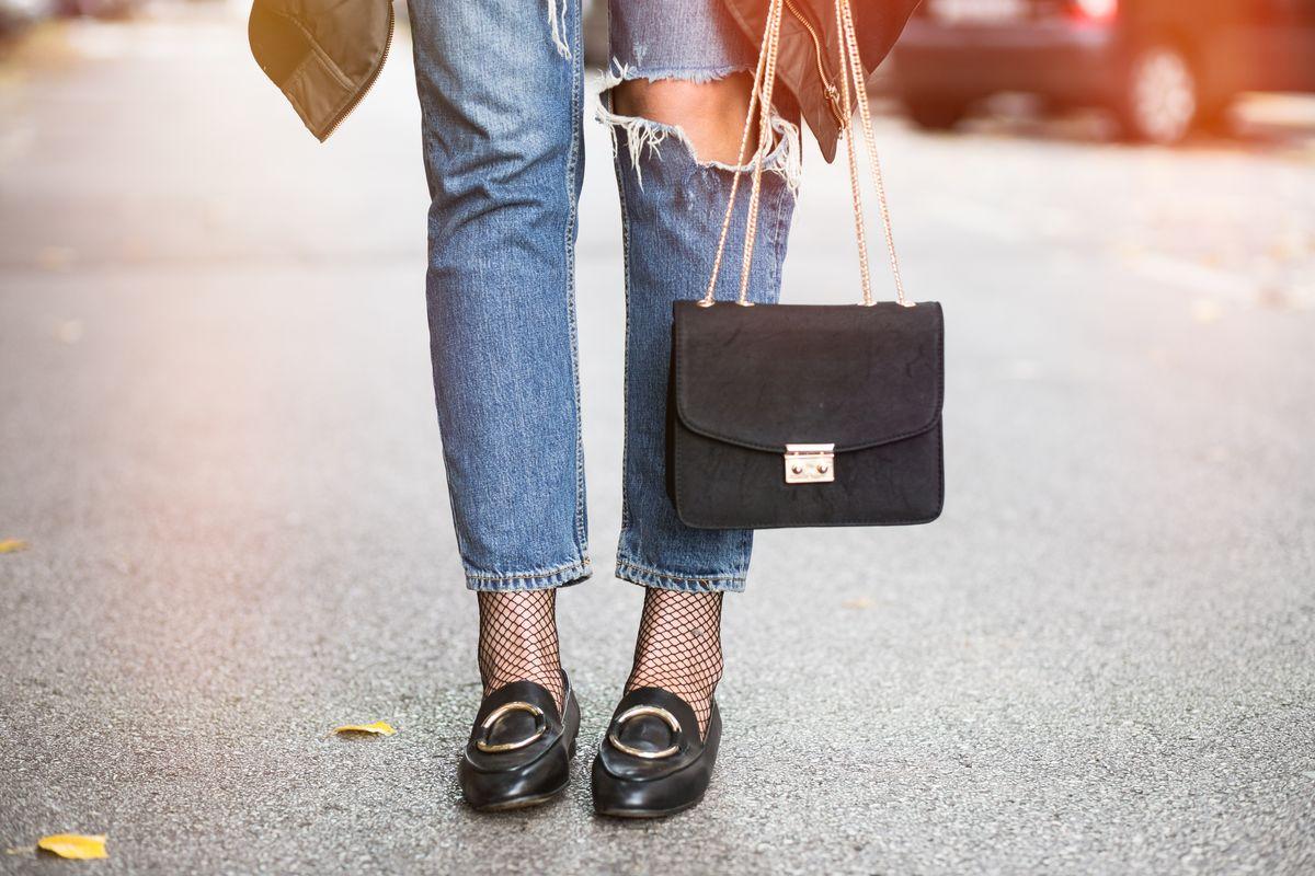 Jeans e mocassini classici