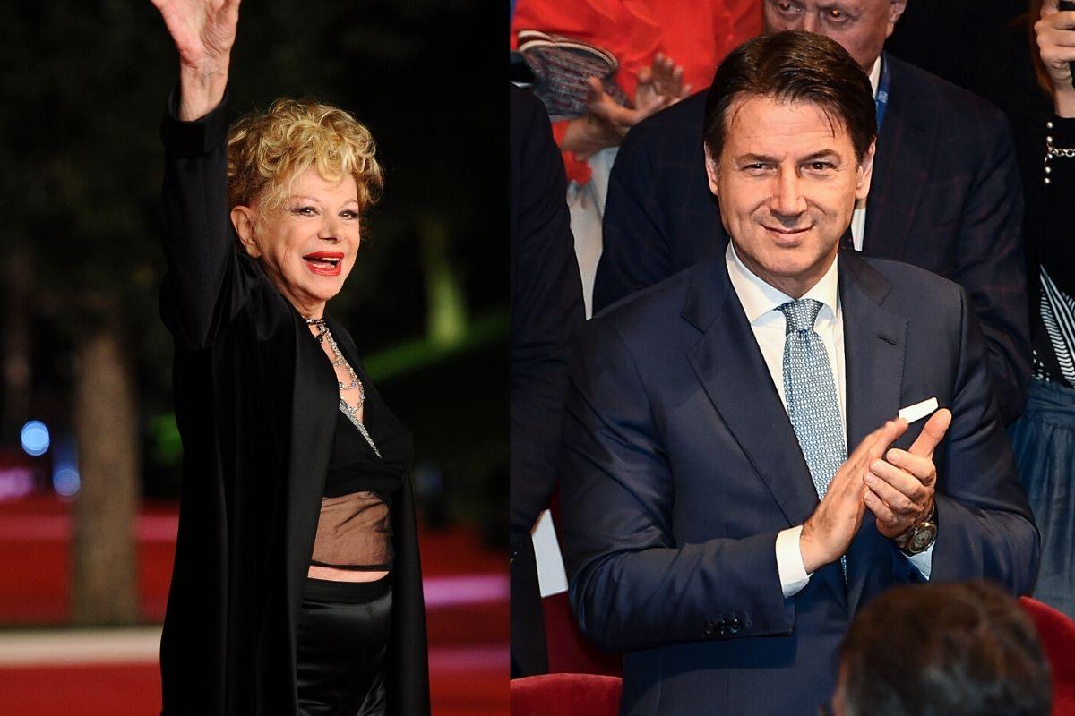 Sandra Milo e Giuseppe Conte