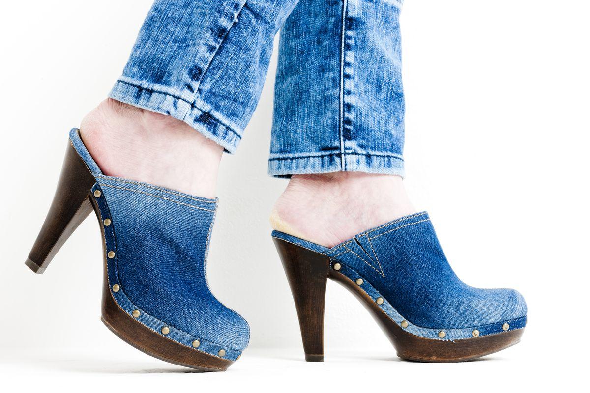 Sabot zoccoli di jeans