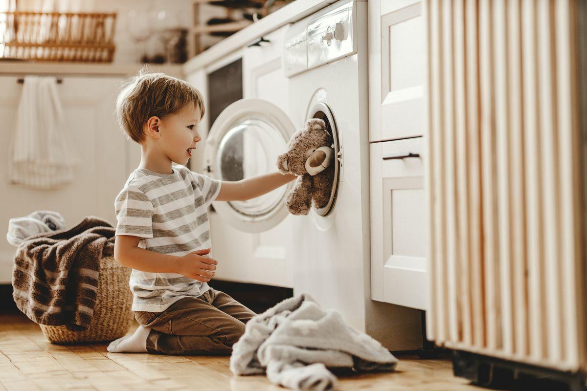 Peluche in lavatrice