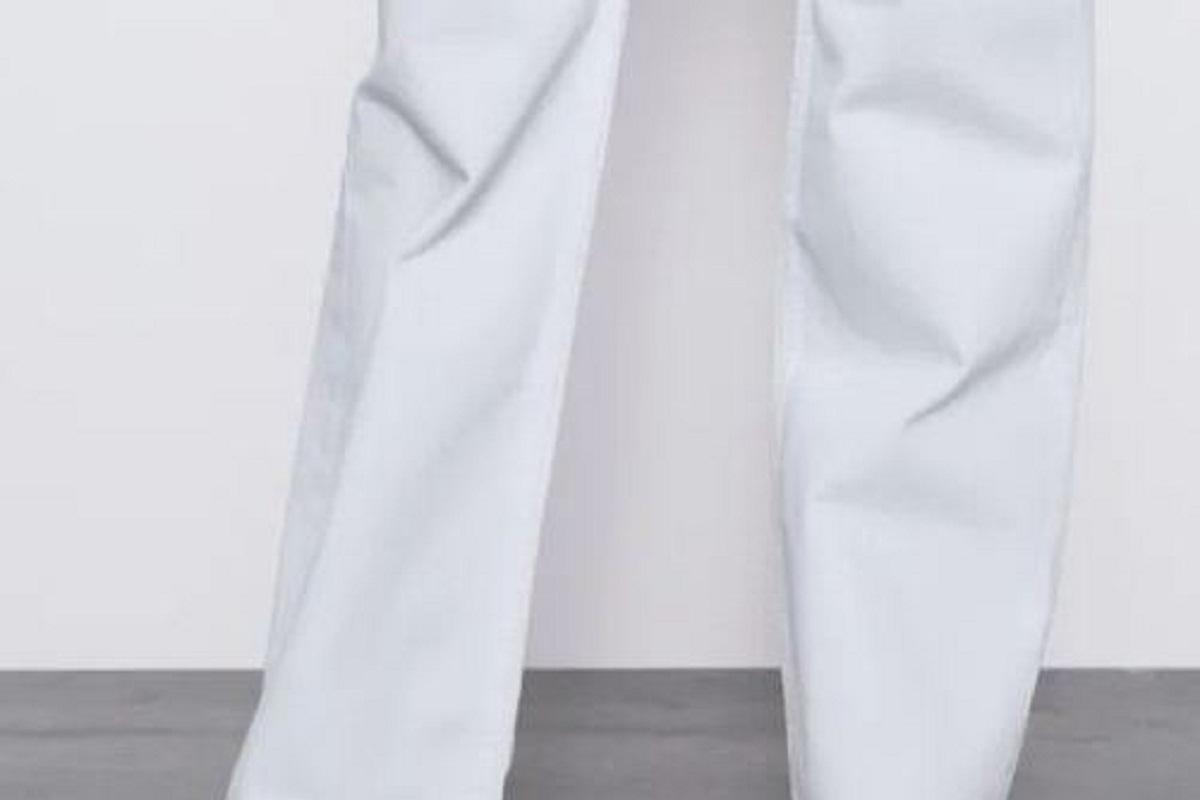 Jeans bianchi Zara vita alta