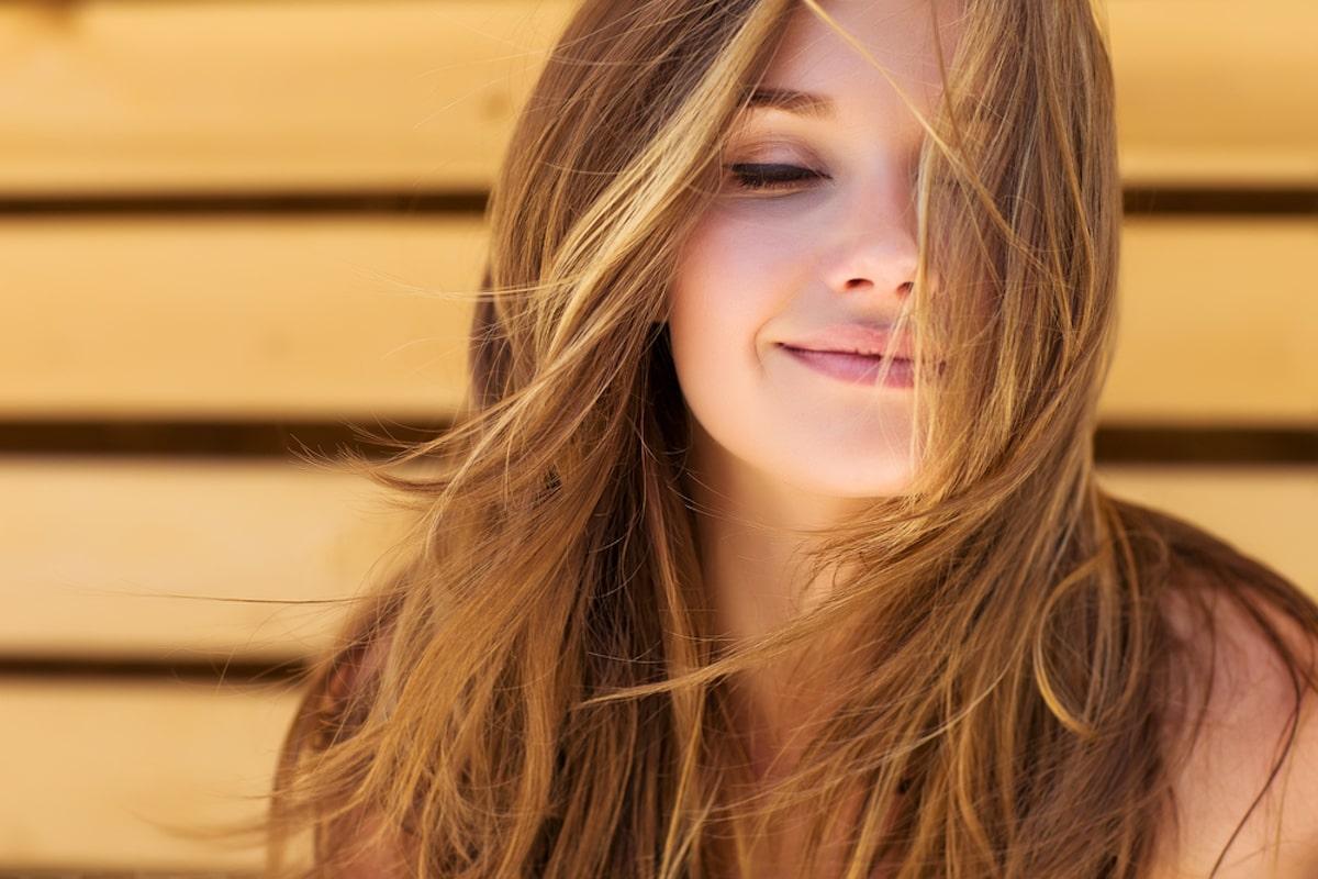 Colpi di sole capelli castani