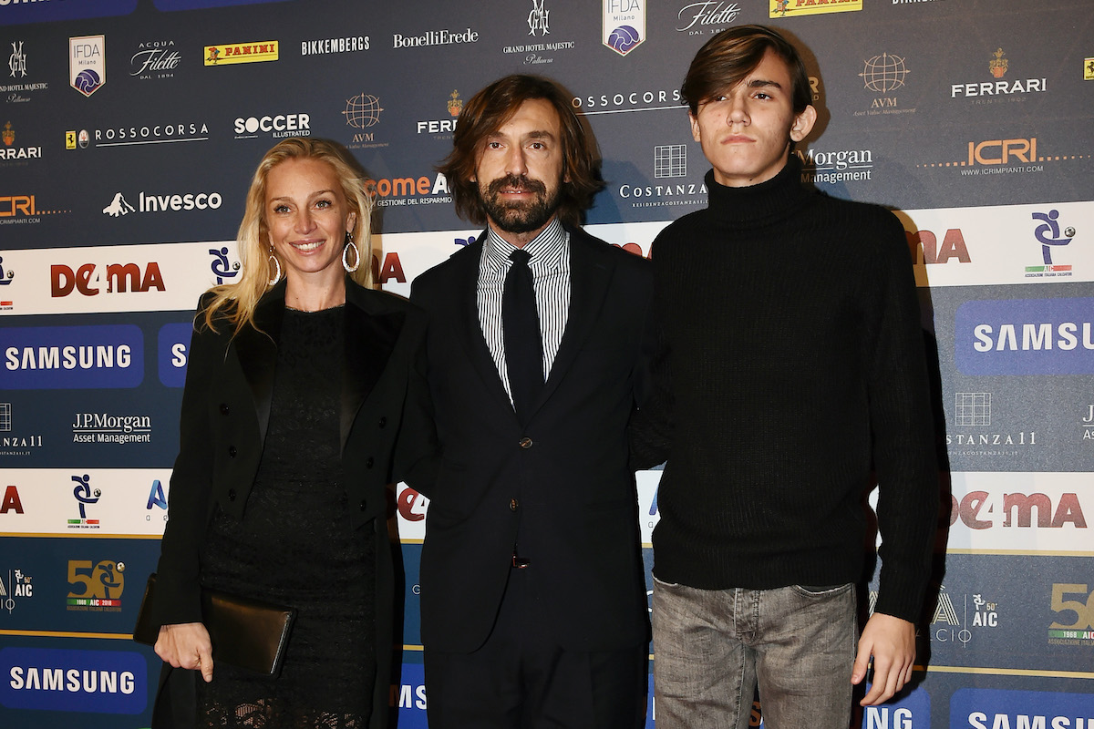 Valentina Baldini, Andrea Pirlo e Nicolò Pirlo