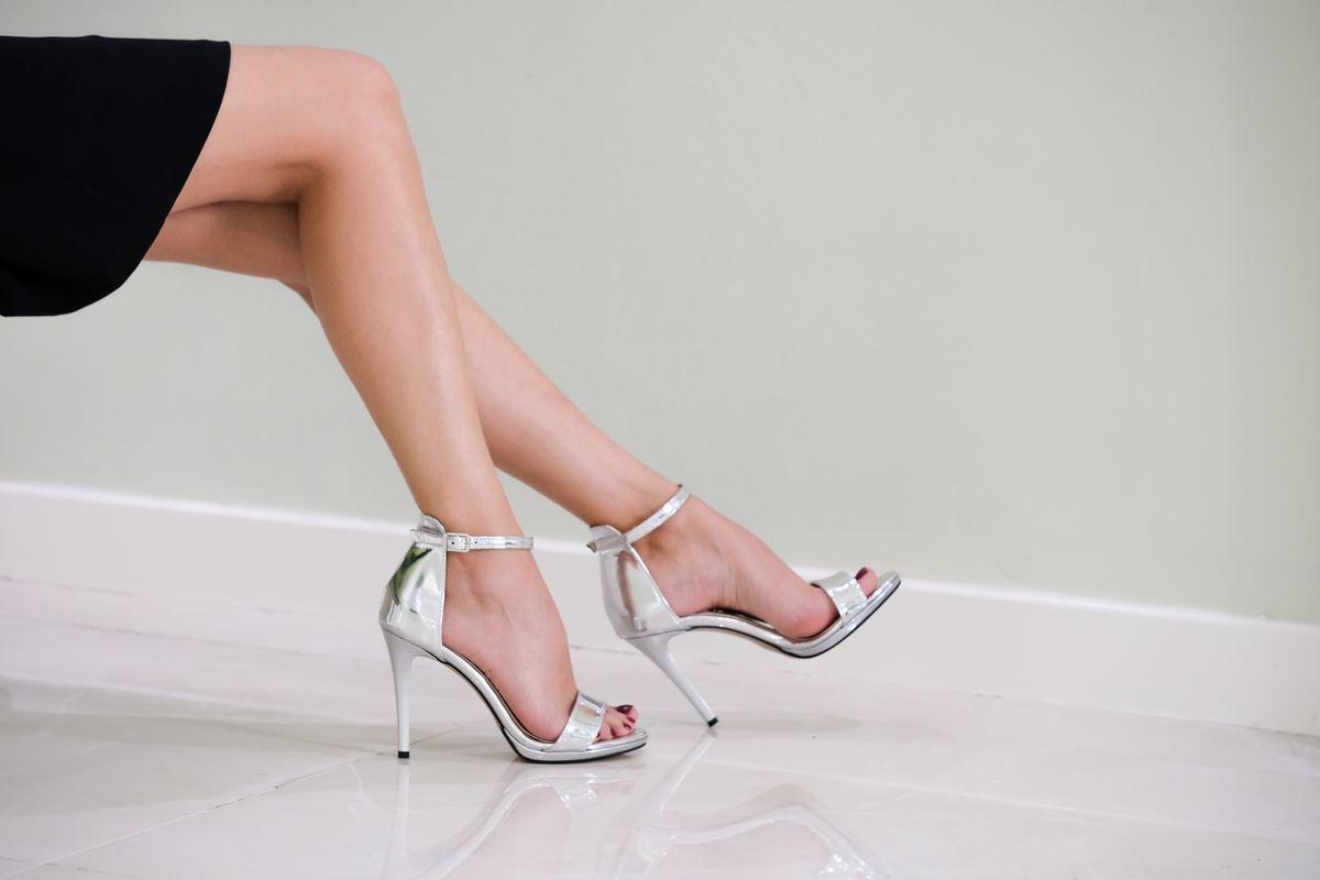 Sandali argento stiletto