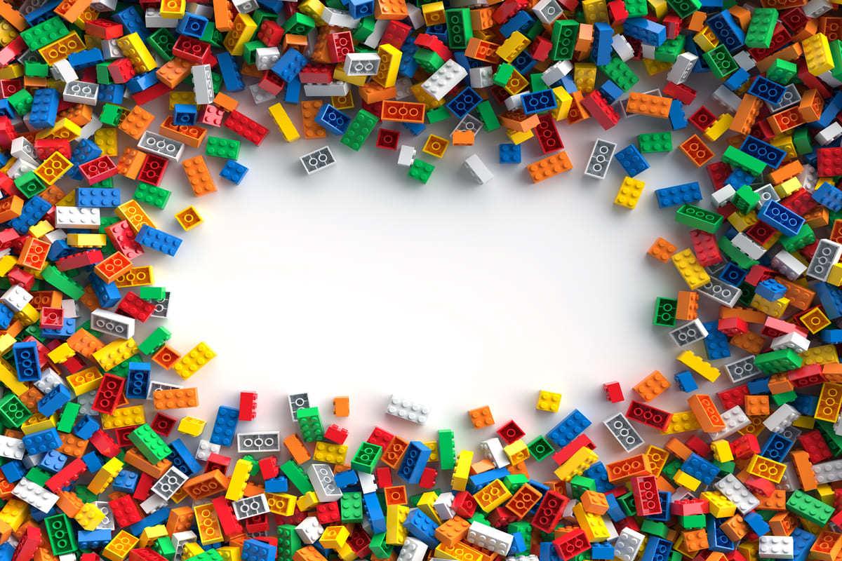 Mattoncini Lego colorati