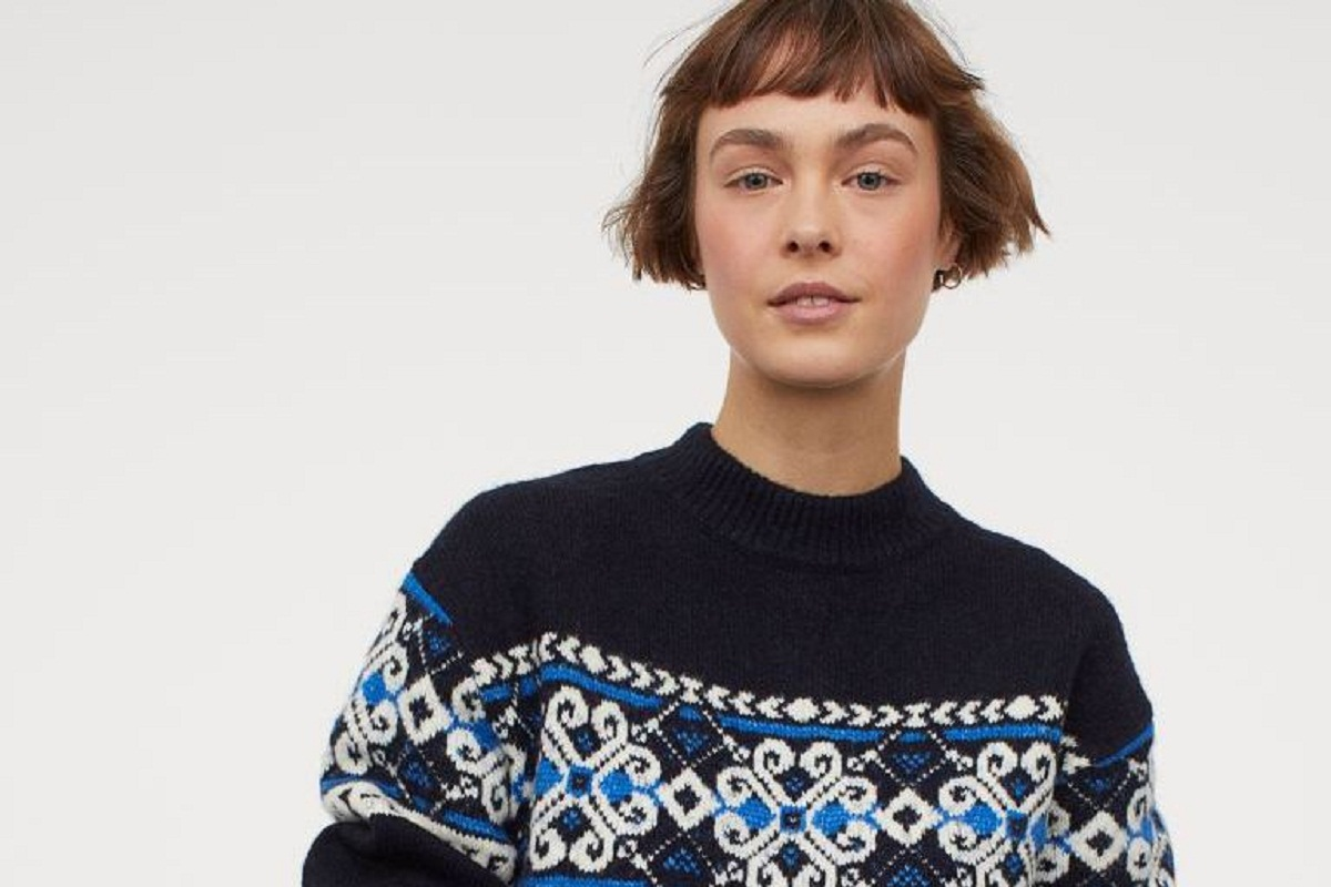 Maglione natalizio blu H&M