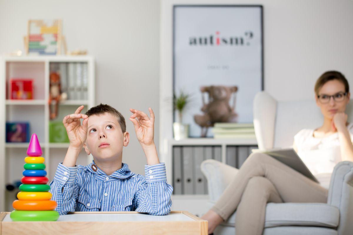Bambino dalla psicologa