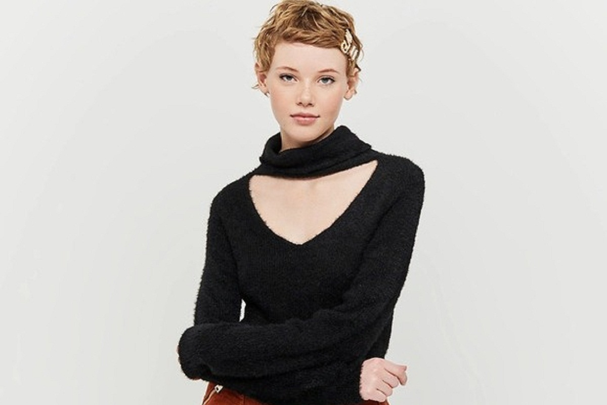 Maglione nero cut out Tally Weijl