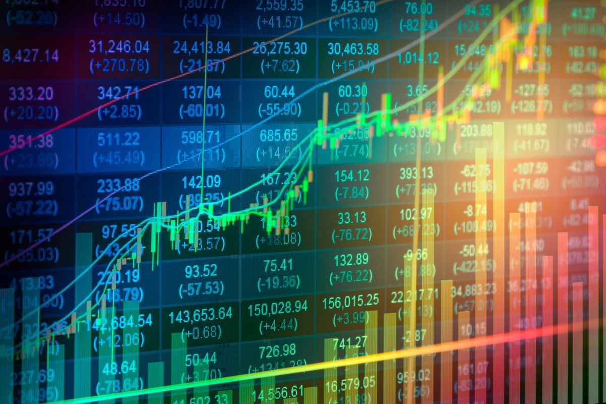 Grafico di azioni in borsa