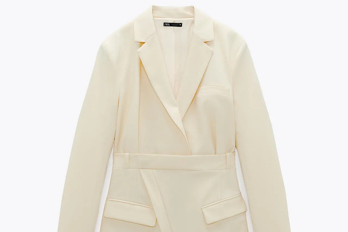 Blazer dress giallo chiaro Zara