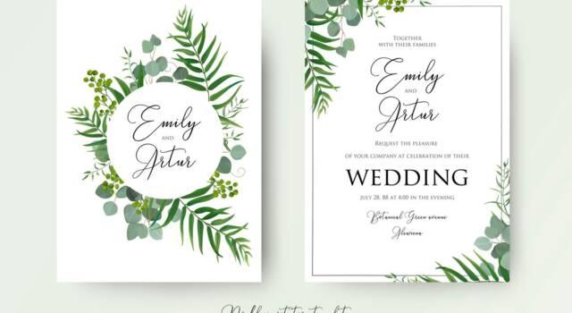 Partecipazioni matrimonio: tante idee per i vostri inviti di nozze