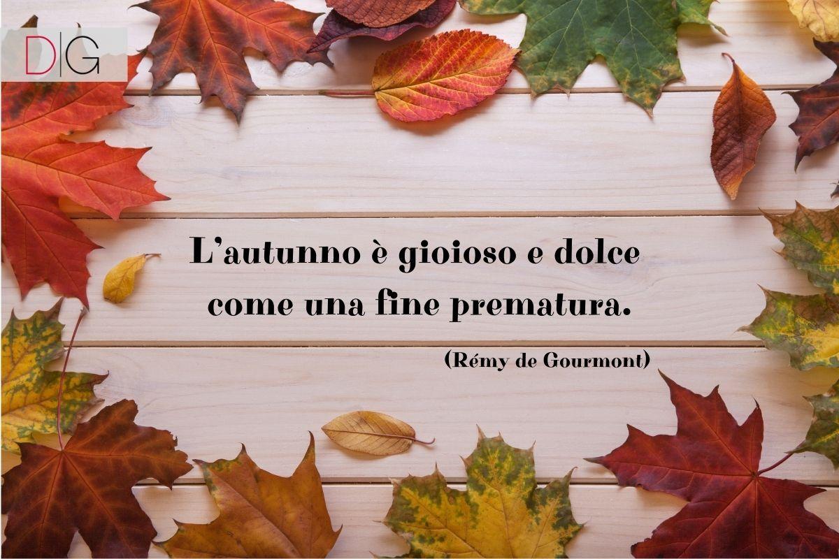 Frase sull'autunno Rémy de Gourmont