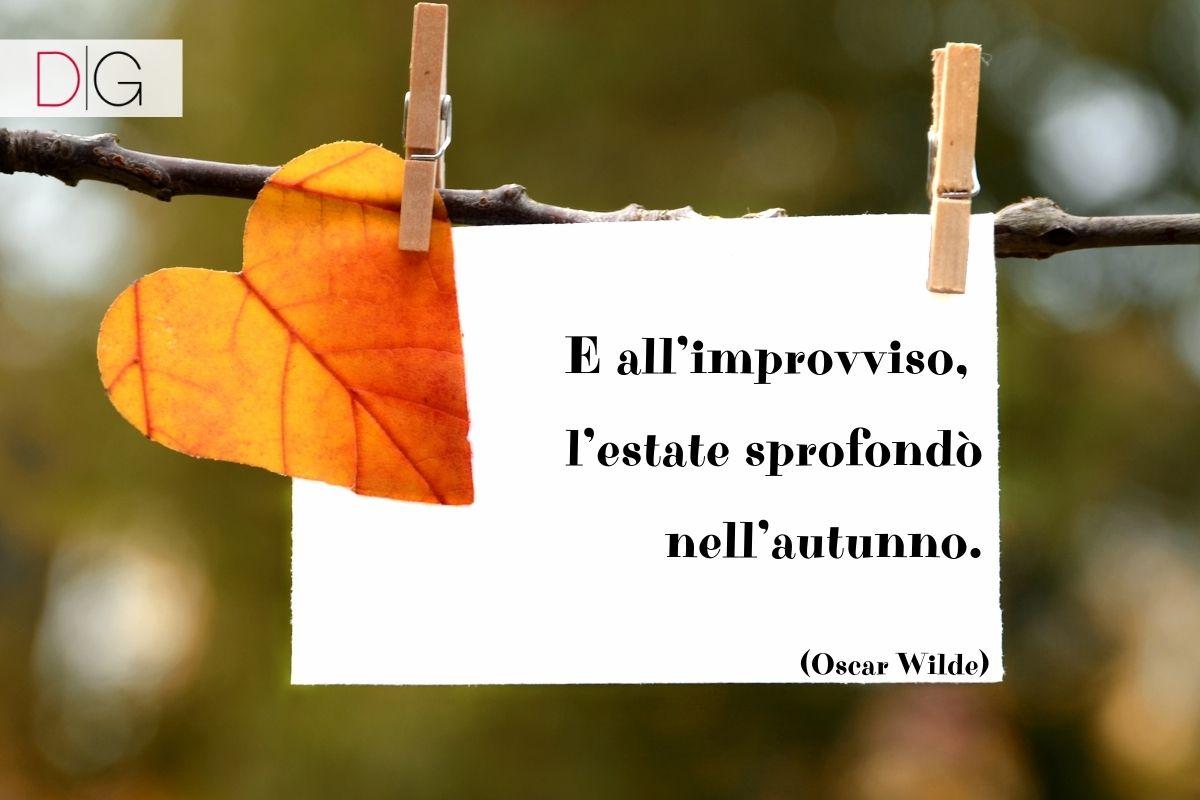 Frase sull'autunno Oscar Wilde