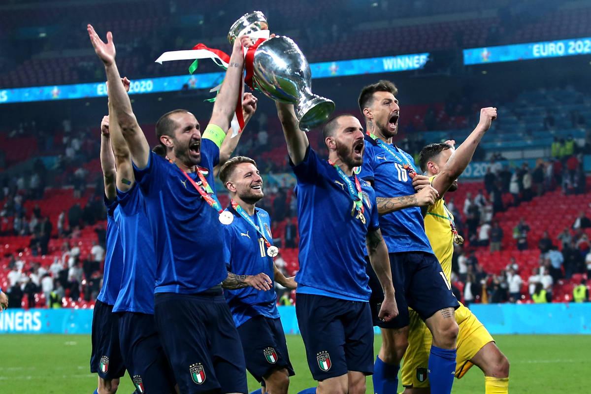 Italia festeggia Europeo