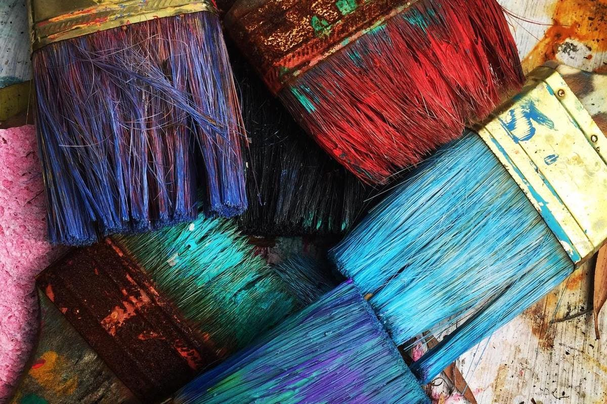 colori pennelli