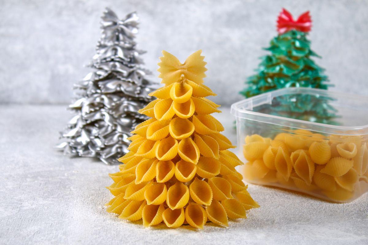 Albero di Natale di pasta
