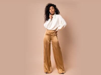 Autunno morbido e comodo con i pantaloni a gamba larga e vita alta: prove glamour prima dell'inverno